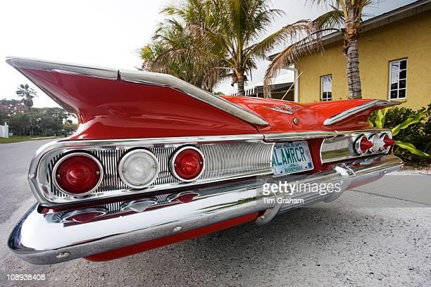 Red Chevrolet Impala convertible automobile Anna Maria Island Florida sunshine state United States of America