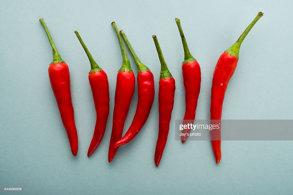 Red chilli peppers : Stock Photo