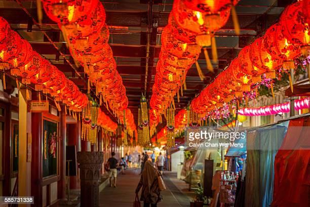 Red Chinese lanterns in Chinatown - Singapore