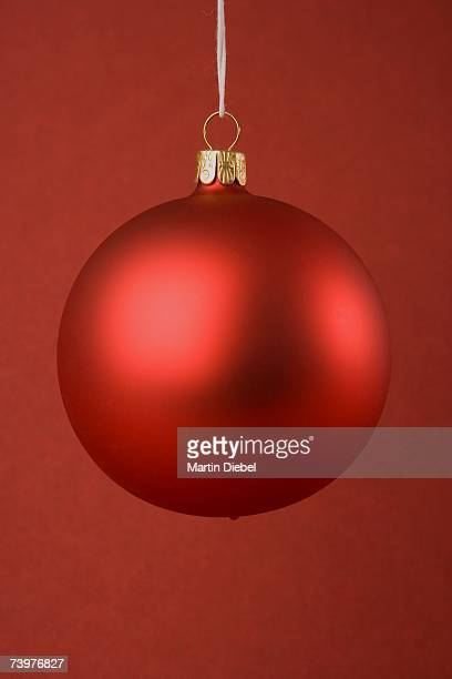 A red Christmas bauble
