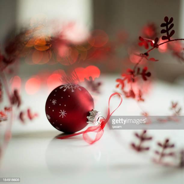 Décoration de Noël rouge