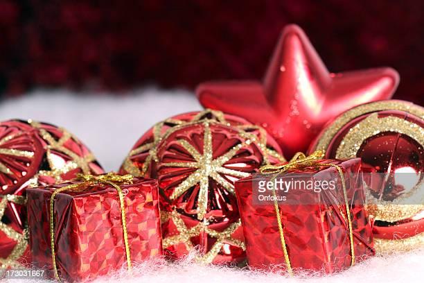 Rote Weihnachten Dekoration Hintergrund