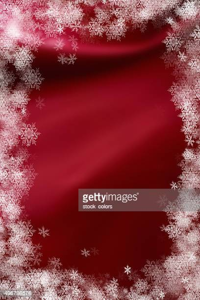 red christmas snowflakes gift card
