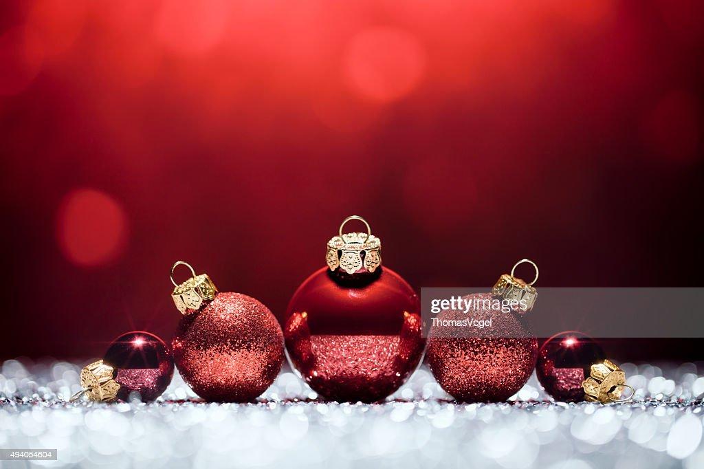 rote weihnachten dekoration lichter bokeh unscharf. Black Bedroom Furniture Sets. Home Design Ideas