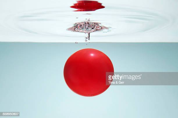 Red circle in water