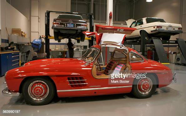 Irvine A Red Classic 1955 Mercedes Benz With Gull Wing