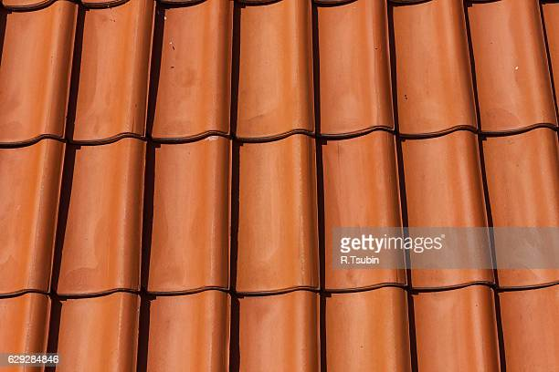red clay roof tiles