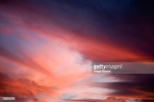 Red cloudscape