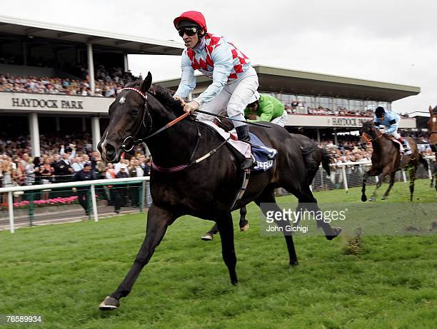 Red Clubs ridden by Michael Hills wins The Betfred Sprint Cup on September 8 2007 at Haydock Racecourse Haydock England