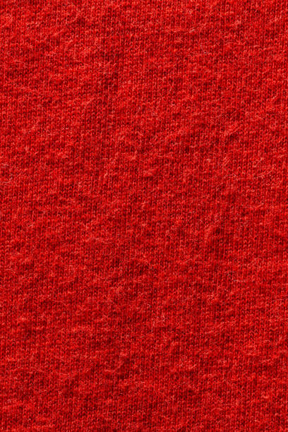 Red color fabric cloth polyester texture and textile background.