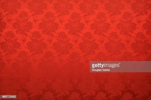 red colored ornate tapestry pattern - 上流社会 ストックフォトと画像
