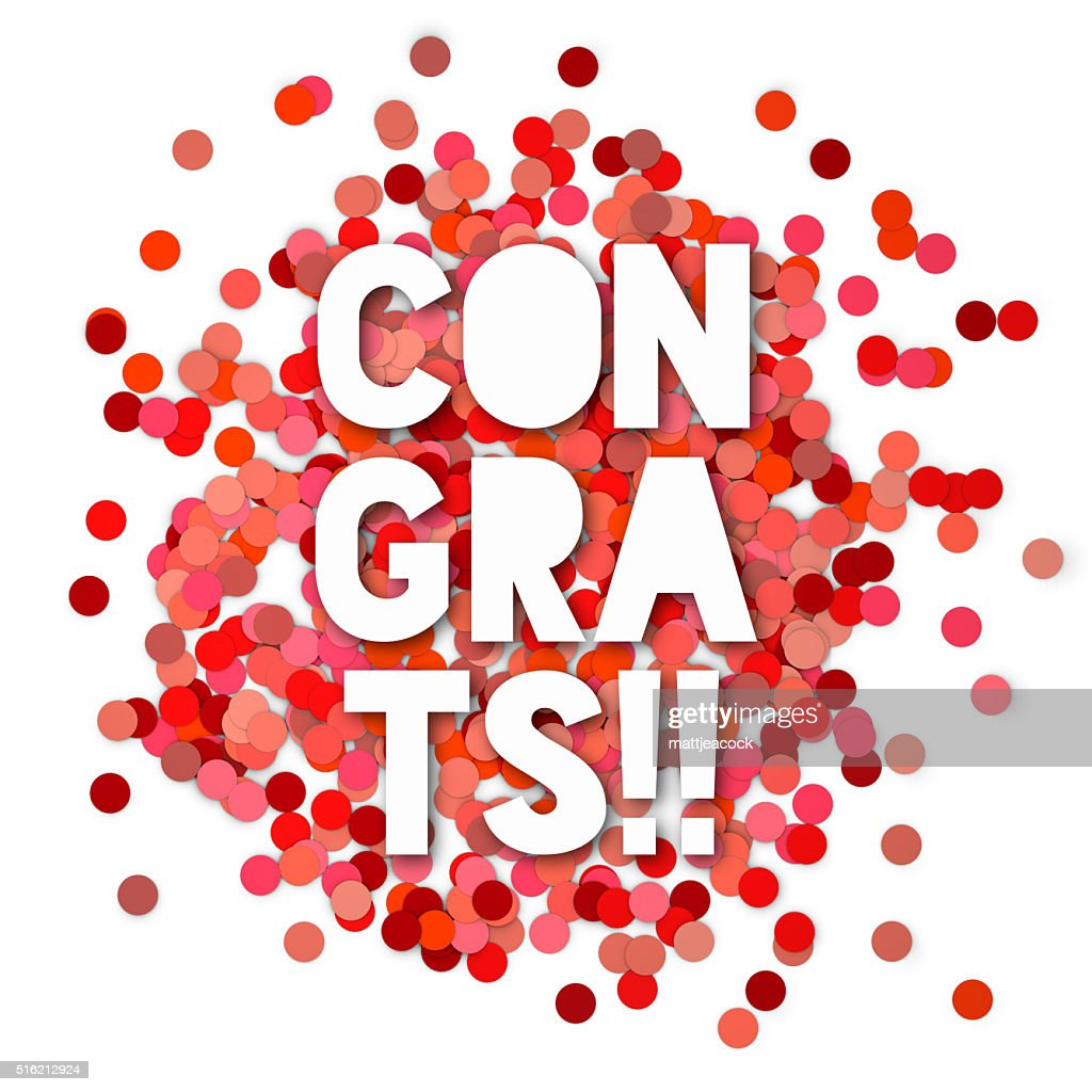 Red Congratulations Confetti Background Stock Photo - Getty Images