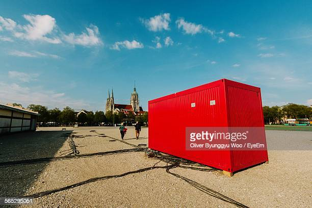 Red Container On Field