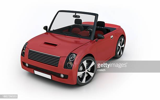 red convertible - clip art stock pictures, royalty-free photos & images
