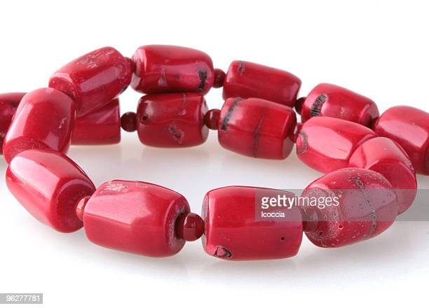 red coral necklace - gemstone stock pictures, royalty-free photos & images