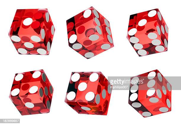 Red Craps Dice