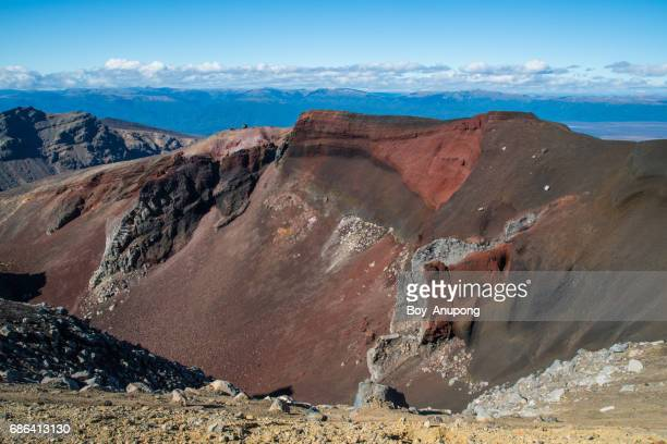 Red Crater in Tongariro national park, New Zealand.