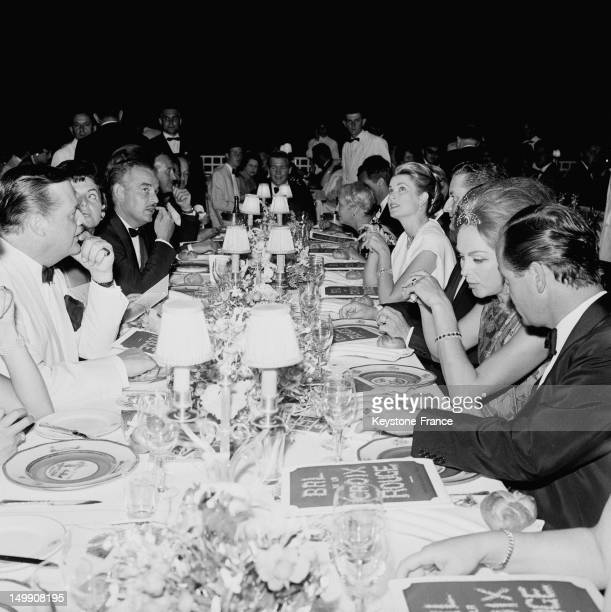 Red Cross Ball at Monte Carlo Sporting Club presided by the Prince Rainier and the Princess Grace of Monaco, on August 11, 1963 in Monte Carlo,...
