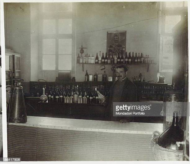 ARMY Red Cross Hospital no 10 in Cividale Pharmacy Cividale del Friuli Italy 1916 Gelatine process Rome Central Museum of the Risorgimento