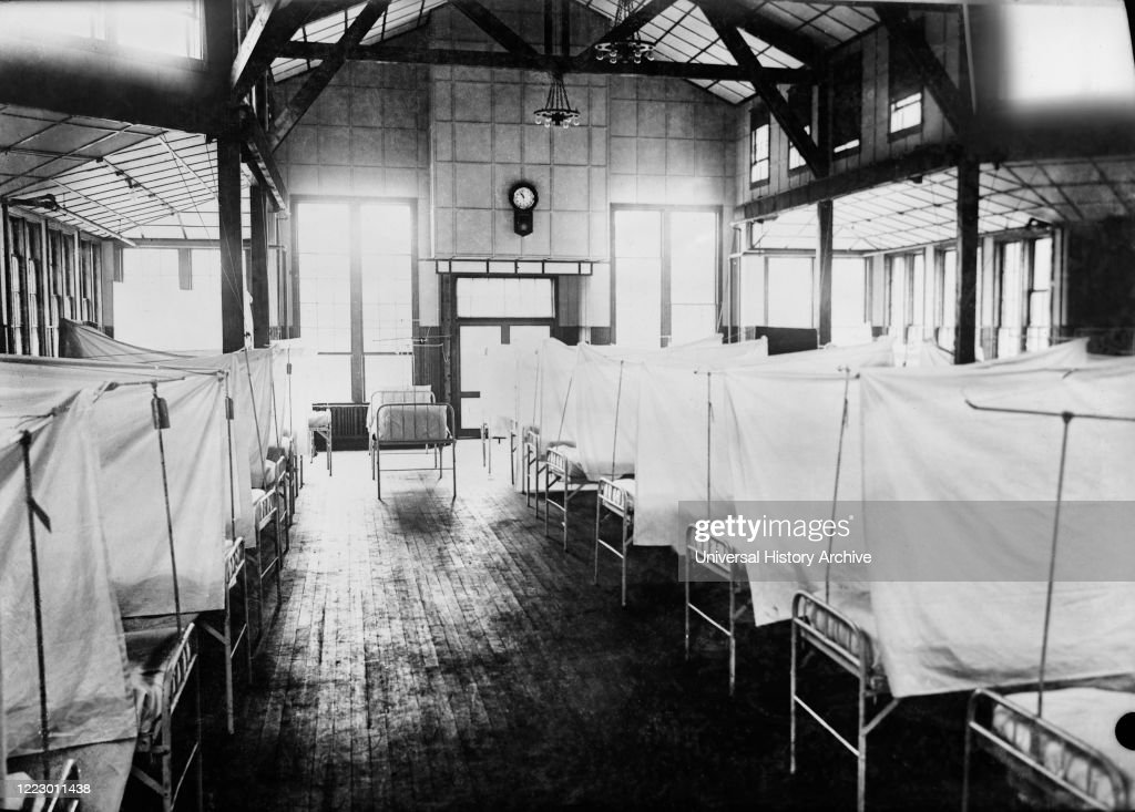 Red Cross House at U.S. General Hospital #16, during Influenza Epidemic, New Haven, Connecticut, USA, American National Red Cross Photograph Collection, 1918 : News Photo
