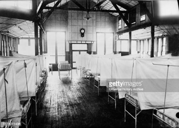 Red Cross House at U.S. General Hospital, during Influenza Epidemic, New Haven, Connecticut, USA, American National Red Cross Photograph Collection,...