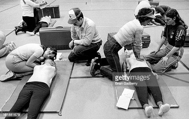 APR 2 1984 APR 4 1984 Red Cross instructors to teach people CPR and at Green Mt Red Center An estimated 200 people took the course for went at their...