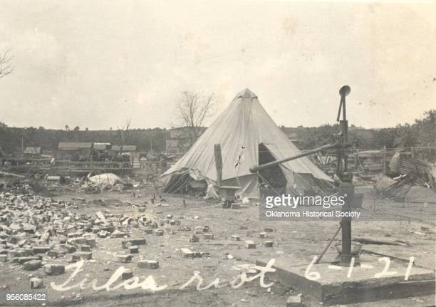 Red Cross tent constructed for victims of the 1921 Tulsa Race Massacre, Tulsa, Oklahoma, June 1921.