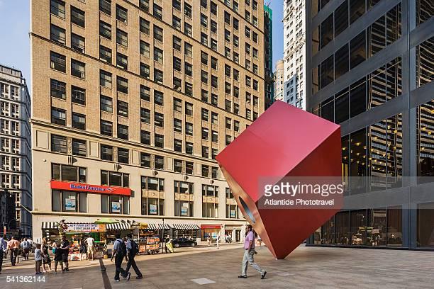 Red Cube sculpture by Isamu Noguchi