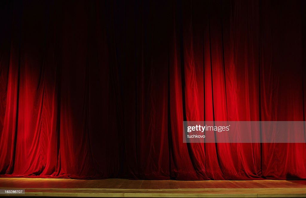 Red Curtain. XXL : Stock Photo