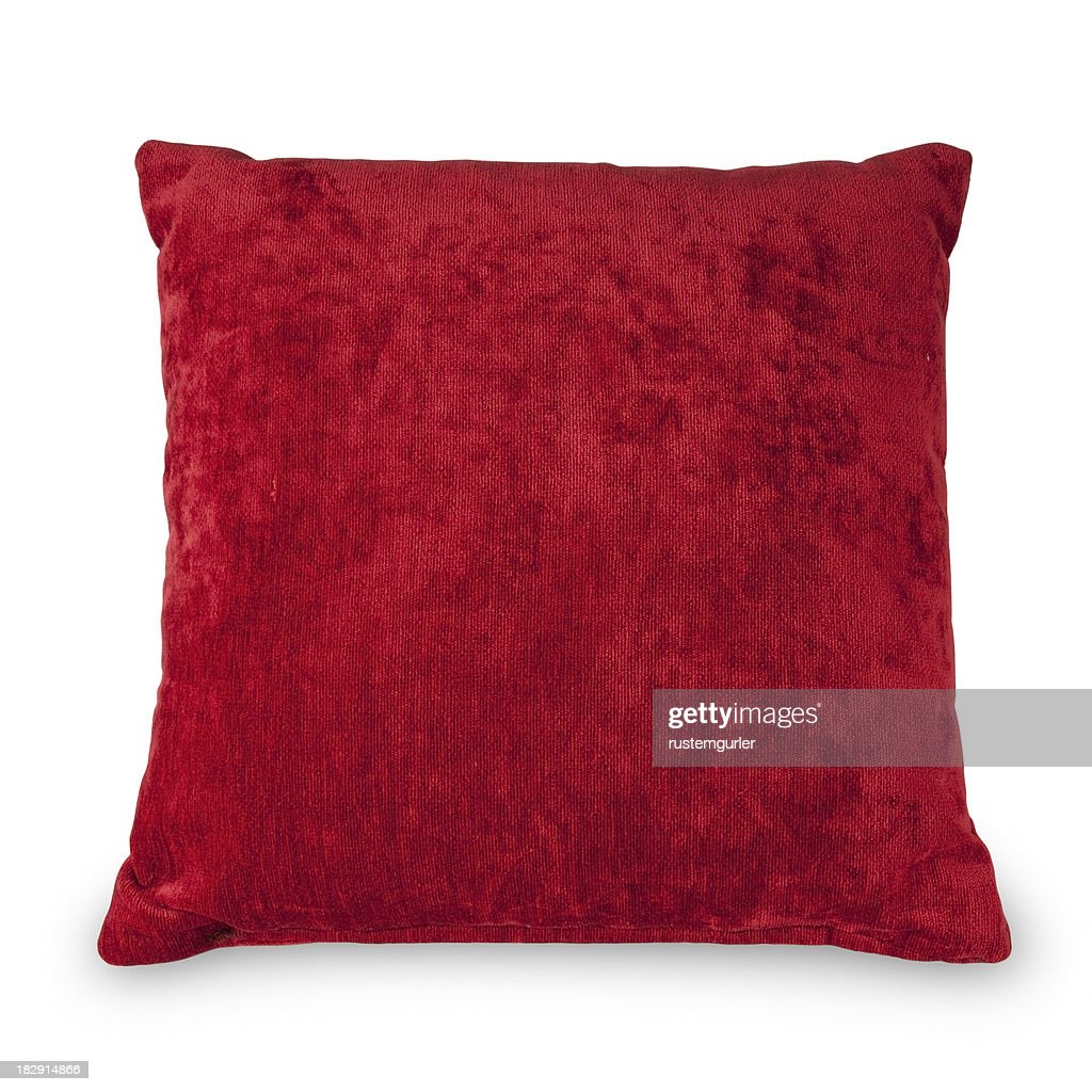 Red Cushion - Objects with Clipping Paths : Stock Photo