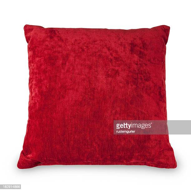 red cushion - objects with clipping paths - cushion stock pictures, royalty-free photos & images
