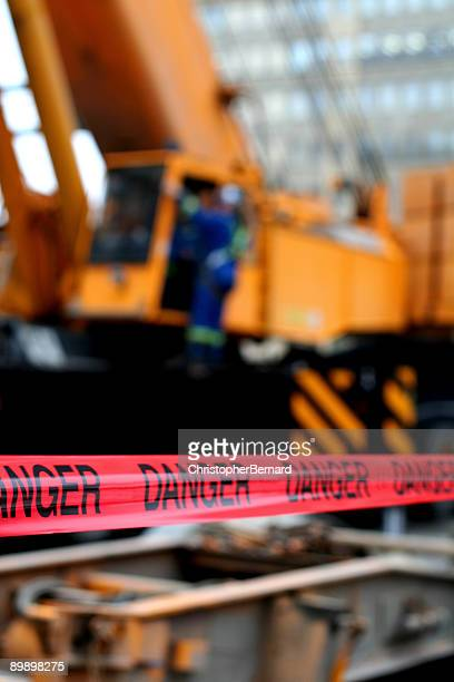red danger tape - barricade stock pictures, royalty-free photos & images