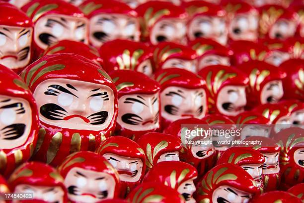 Red daruma dolls