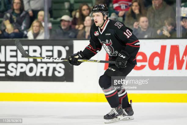 Red Deer Rebels forward Cameron Hausinger skates to an open spot on offense during a game between the Everett Silvertips and the Red Deer Rebels on...