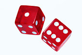 Red Dice On White