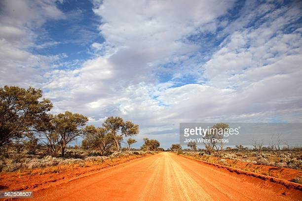 Red dirt road in outback Australia.