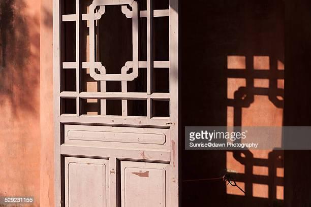 Red Door in Confucian Temple