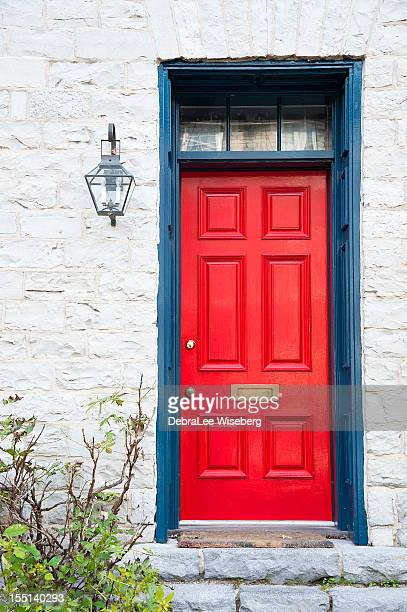 red door - kingston ontario stock photos and pictures