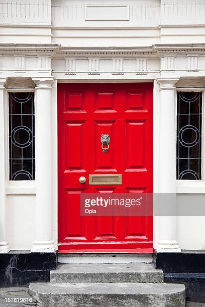 red door - georgian style stock pictures, royalty-free photos & images