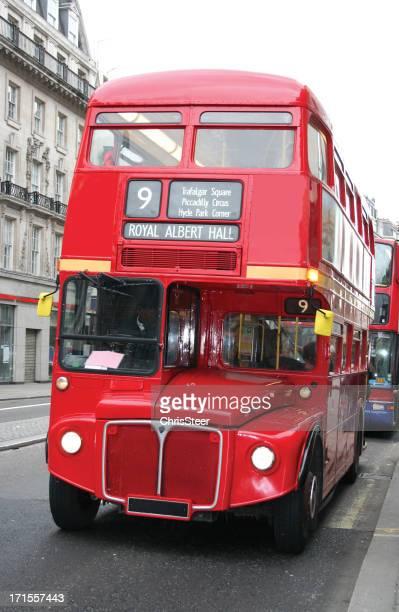 red double decker London bus