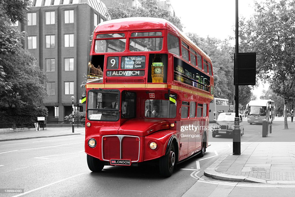 Red Double-Decker Bus - London : Stock Photo