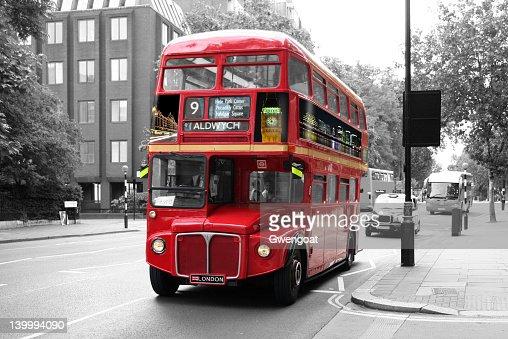 bus rouge imp riale de londres photo getty images. Black Bedroom Furniture Sets. Home Design Ideas