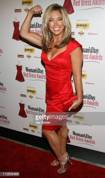 Red Dress Award Honoree Denise Austin arrives at the Red Dress awards In Effort To Fight Heart Disease on January 31, 2008 in New York City