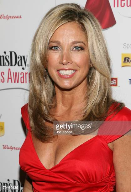 Red Dress Award Honoree Denise Austin arrives at the Red Dress awards In Effort To Fight Heart Disease on January 31, 2008 in New York City.