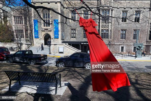 Red dresses can be seen hanging from the trees on the University of Toronto campus this week, as part of the Red Dress Project, which brings...