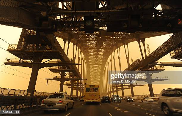Red dust envelops the Harbour Bridge and Opera House on September 23 2009 in Sydney Australia Sydneysiders woke this morning to one of the worst...