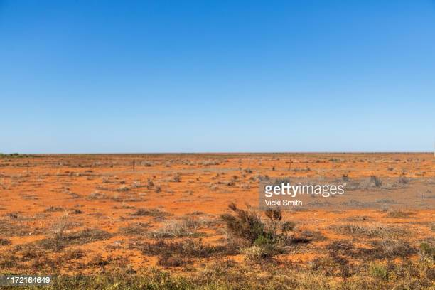 red earth, dry country landscape - outback stock pictures, royalty-free photos & images