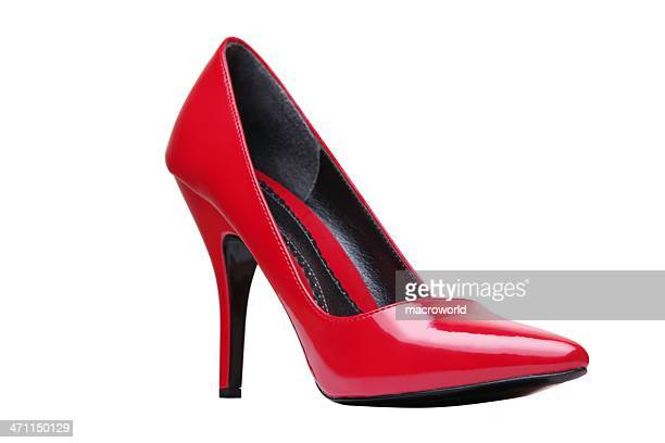 Red Elegant Shoe Isolated On White
