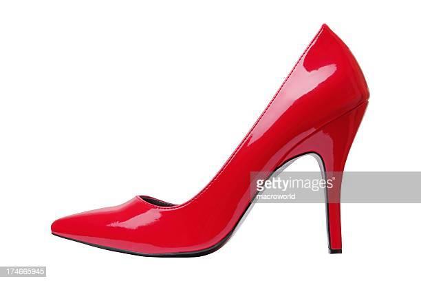 Red elegante Schuh isoliert auf weiss XXXL