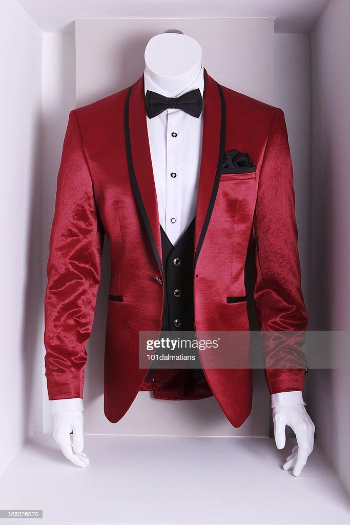 Red Elegant Suit : Stock Photo